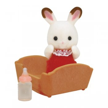 5062 Bebè Coniglio Cioccolato con culla (ex 3410) - https://nohmee.com