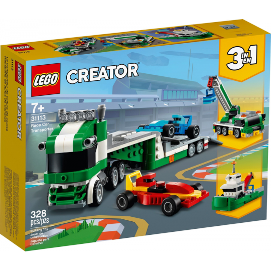 31113 CREATOR Trasportatore di auto da corsa NEW 01 / 2021 - https://nohmee.com